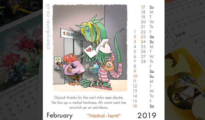 Scottish Words Calendar February