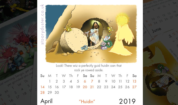 Scottish Words Calendar April