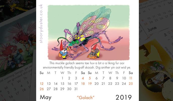 Scottish Words Calendar May
