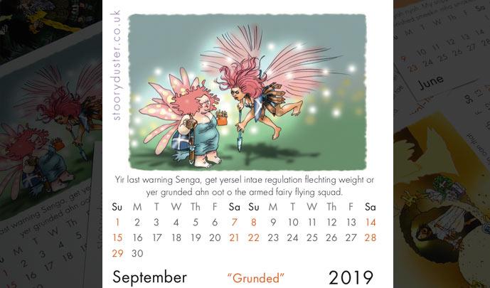 Scottish Words Calendar September