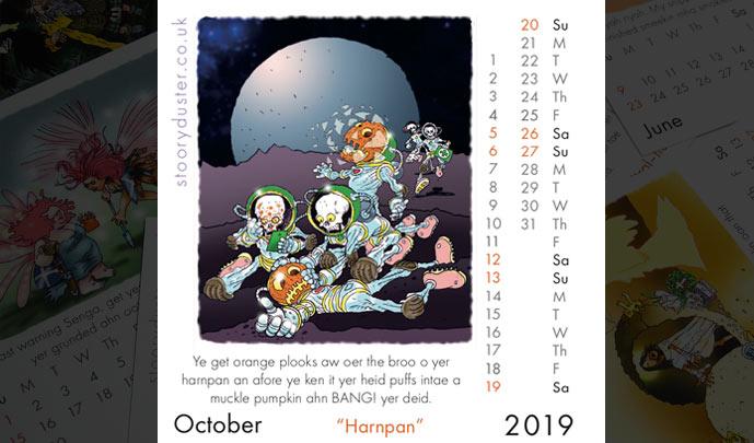 Scottish Words Calendar October