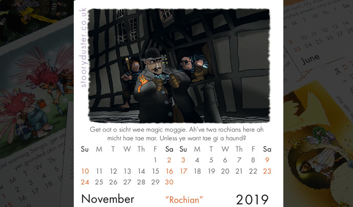 Scottish Words Calendar November