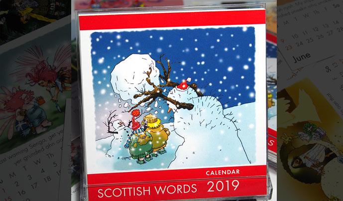 Scottish Words 2019 Calendar cover.