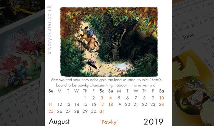 Scottish Words 2019 August.