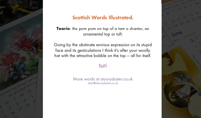 Scottish Words 2019 back of page.