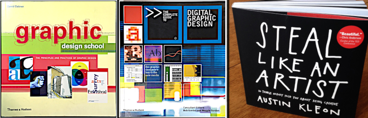 Graphic design books.