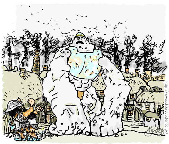 A Dwarf and a Troll are ancient enemies on the Diskworld.