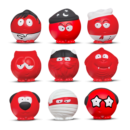 Red Nose Day noses. Olease donate to red nose day.