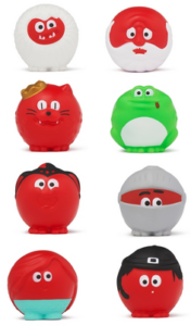 Some of the Red Noses 2019 for Red Nose Day.